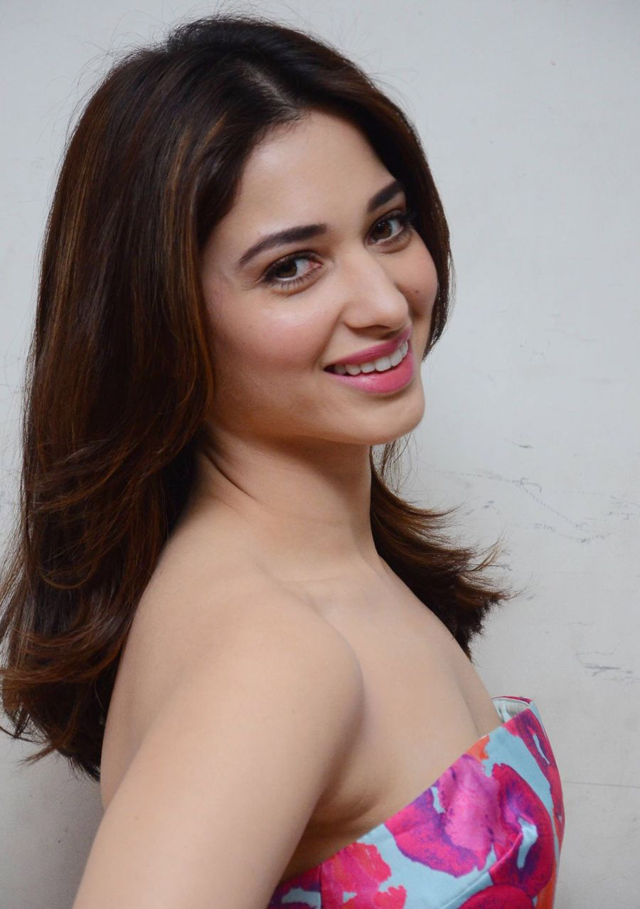 tamanna bhatia in gorgeous off shoulder floral dress page 2