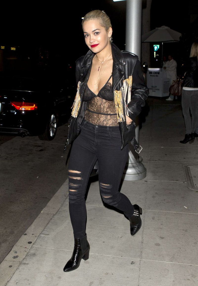 Rita Ora Leaves Mr Chow Restaurant In Beverly Hills