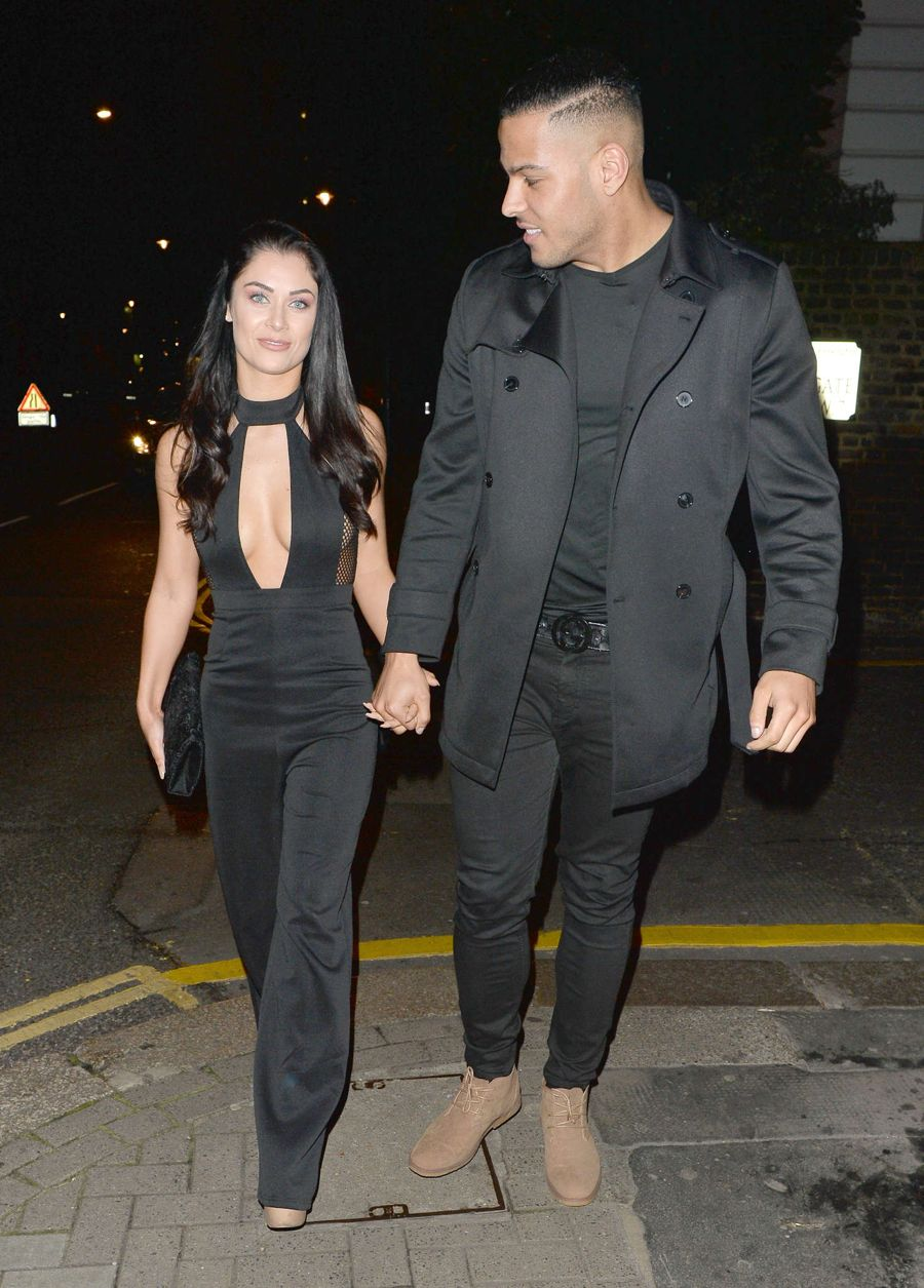 Cally Jane Beech - Night out at Mediterranean Restaurant