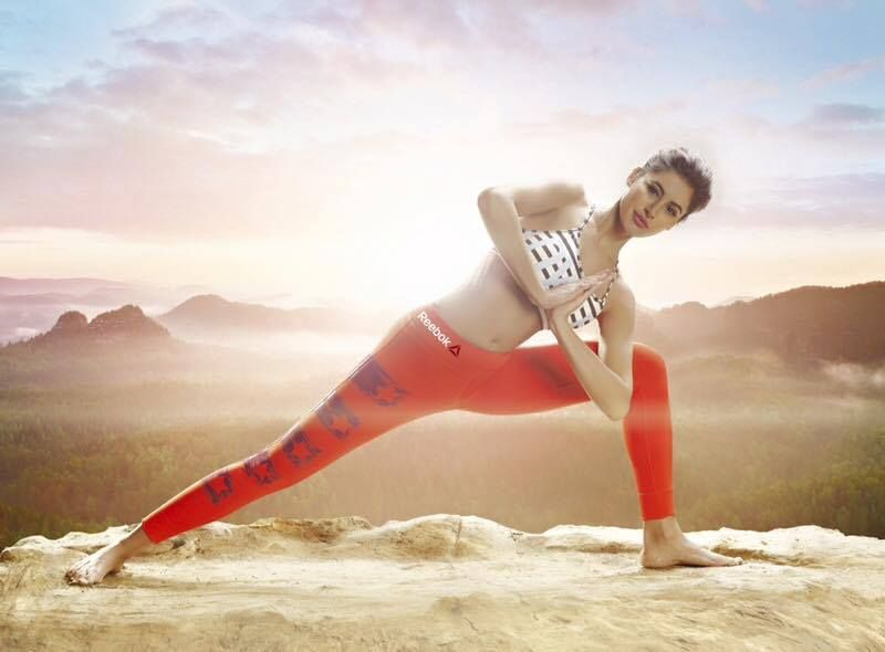 Nargis Fakhri shows off her Yoga skills at the Reebok