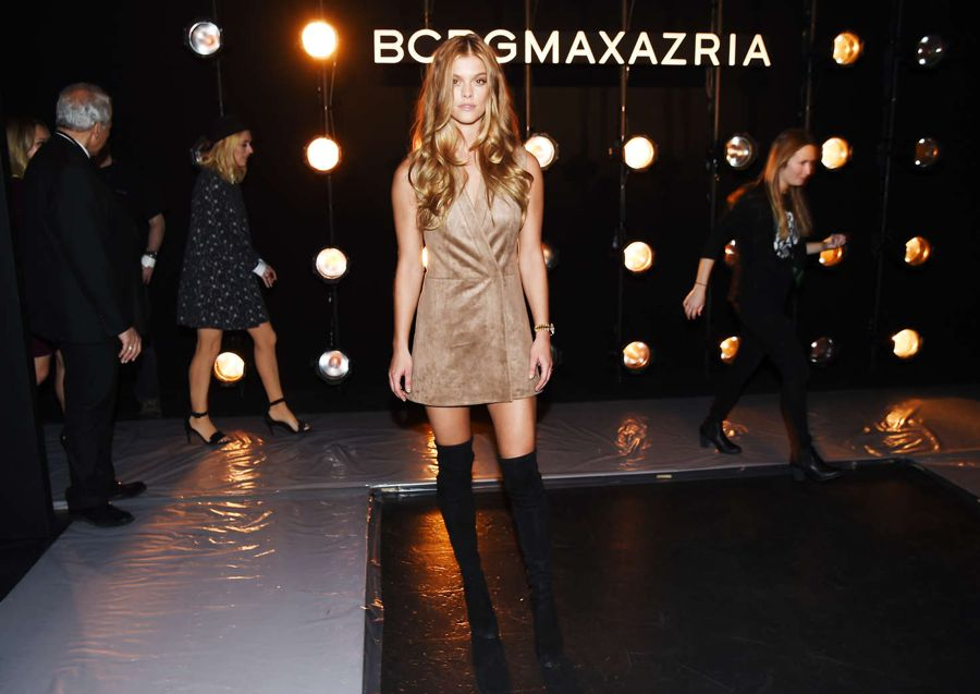 Nina Agdal - BCBGMAXAZRIA Fall 2016 Fashion Show