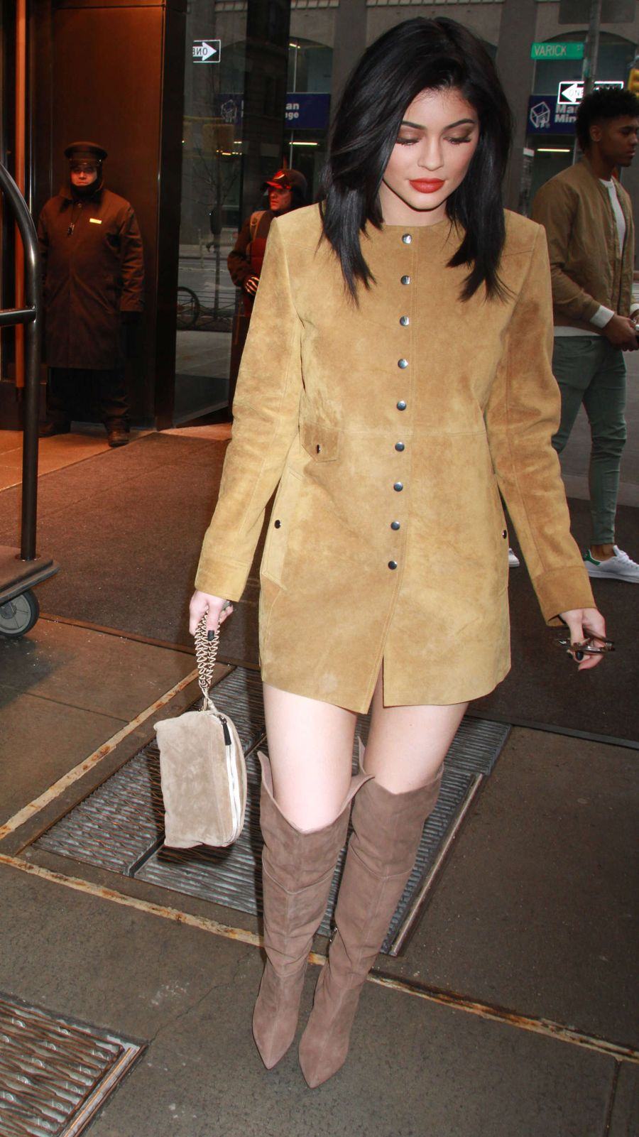 Kylie Jenner in Mini Dress out in New York