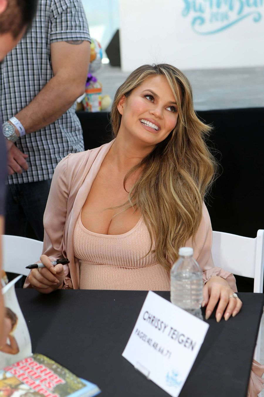 Chrissy Teigen - Sports Illustrated Beach Fan Festival