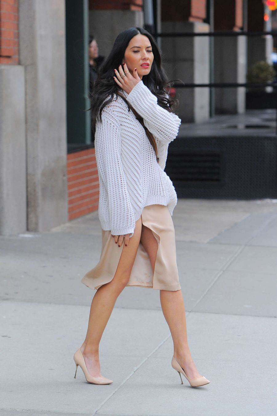 Olivia Munn out in Tribeca