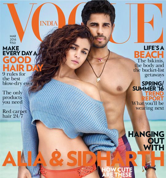 Alia Bhatt & Sidharth Romance for Vogue March 2016