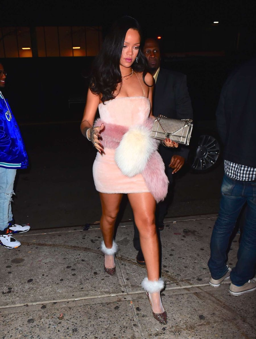 Rihanna - Arriving at Sono Club in NYC