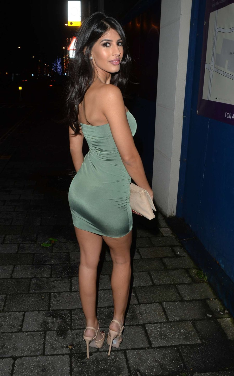 Jasmin Walia Wearing Strapless Mini Dress On New Year S