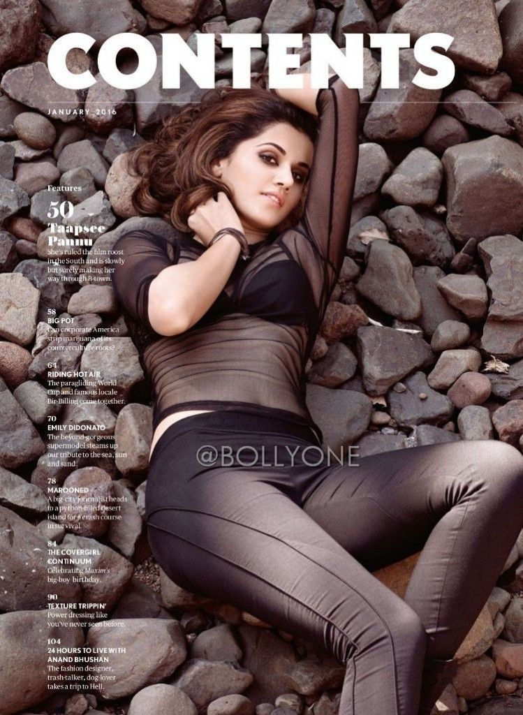 Taapsee Pannu on the Cover Page of MAXIM Magazine Jan 2016