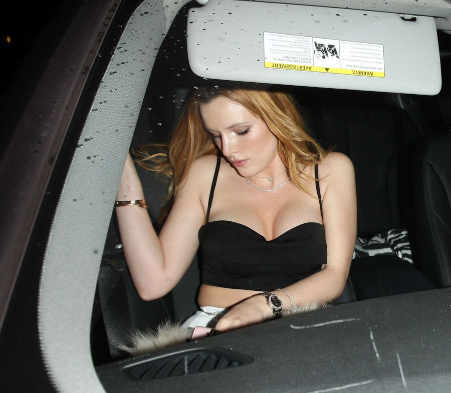 Bella Thorne - Leaving a party in Los Angeles