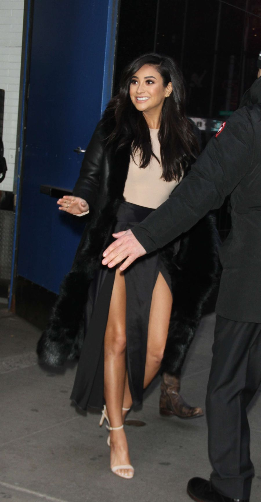 Shay Mitchell Arrives at 'Good Morning America'