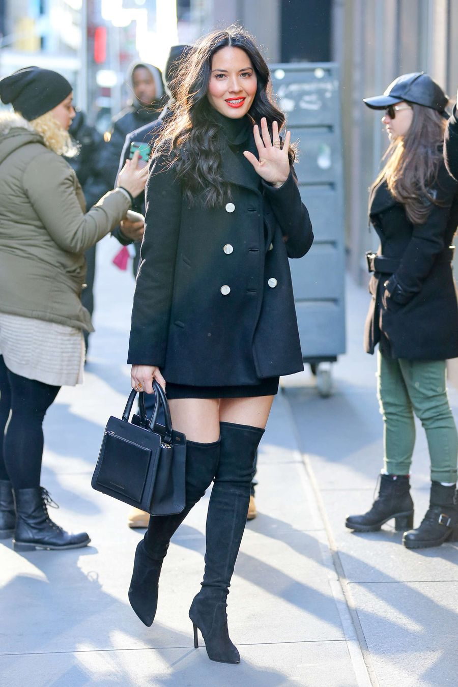 Olivia Munn in Short Dress out in New York