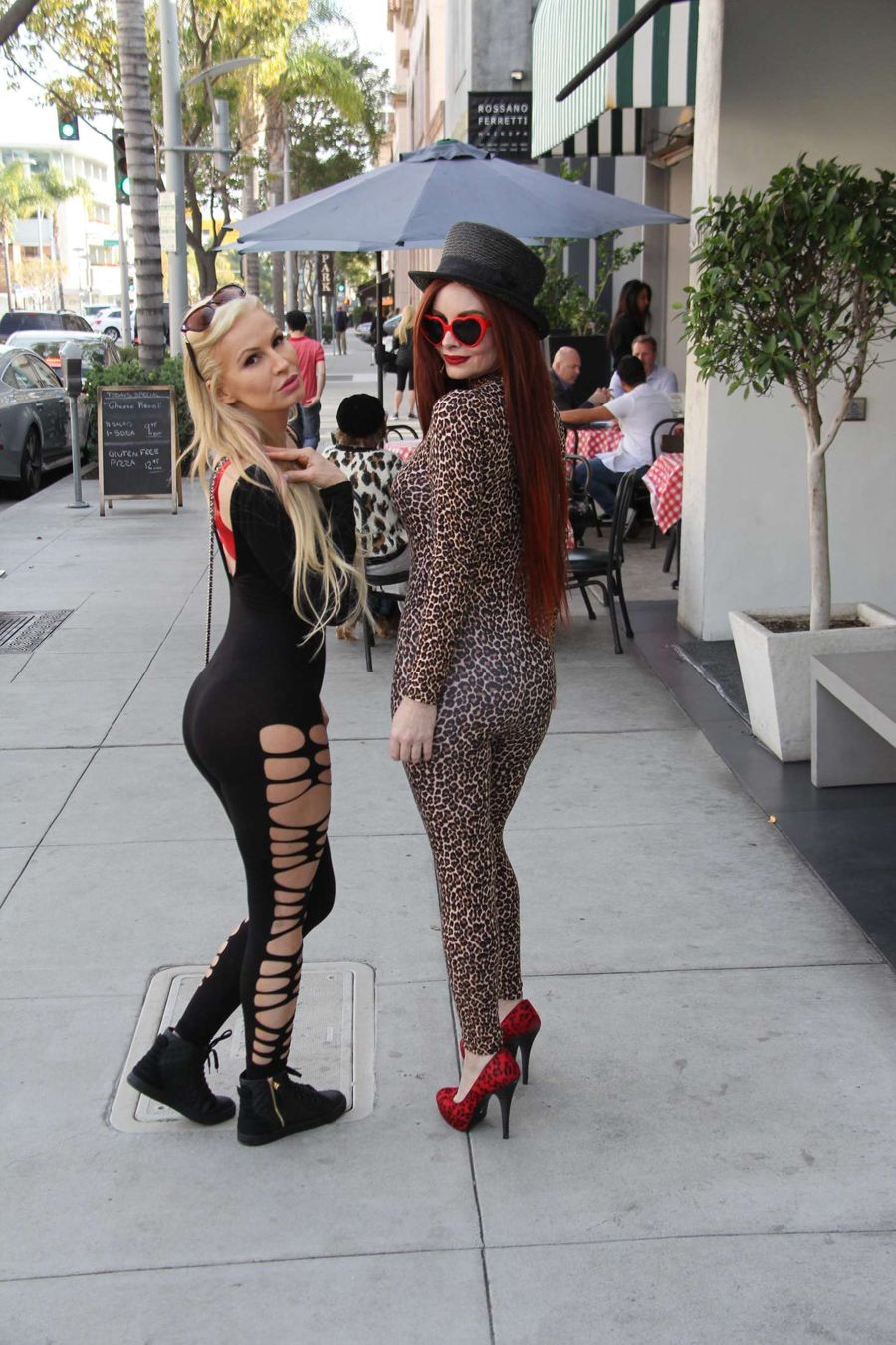 Phoebe Price and Ana Braga out in Beverly Hills
