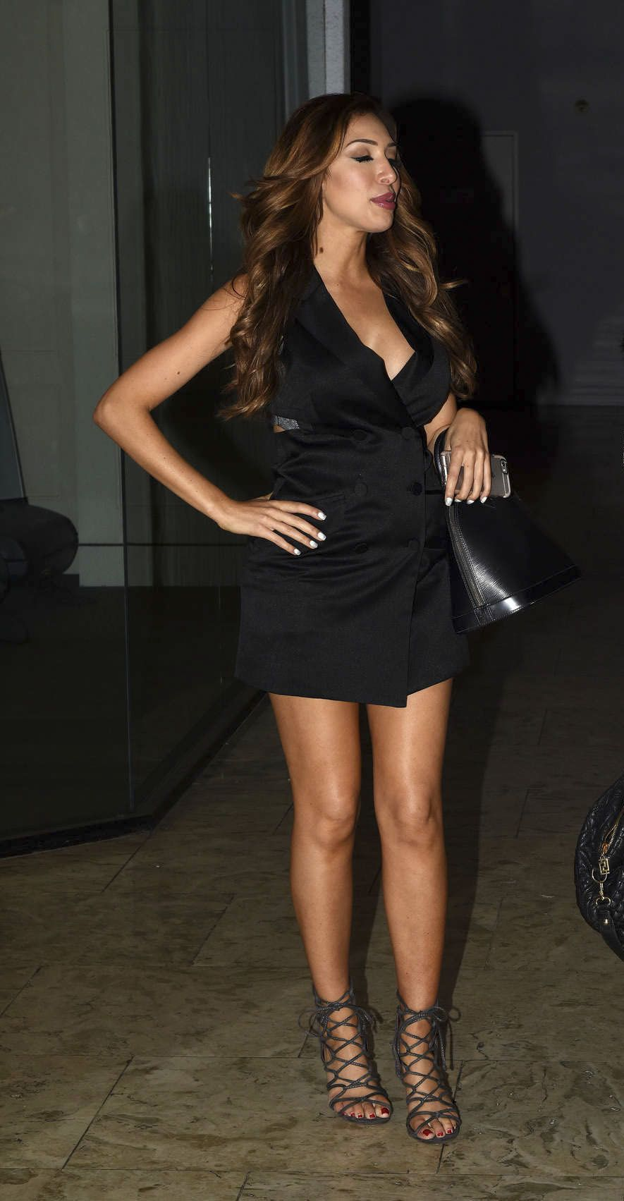 Farrah Abraham in Mini Dress night out in L.A.