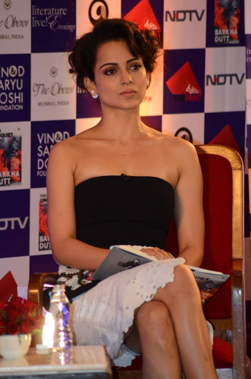 Kangana Ranaut at Barkha Dutt's book launch