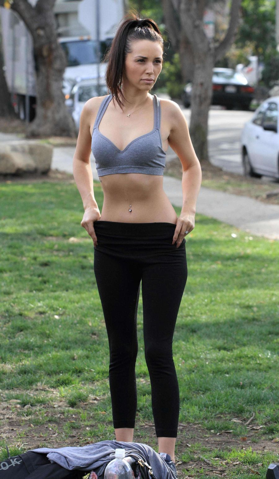 Scheana Marie Shay works out at the park in Los Angeles