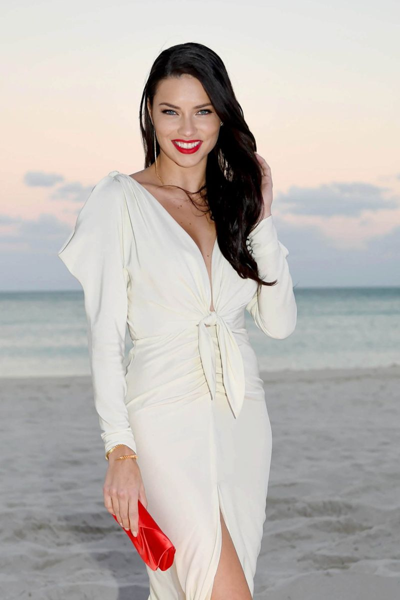 Adriana Lima Charity Gala Photoshoot in Miami