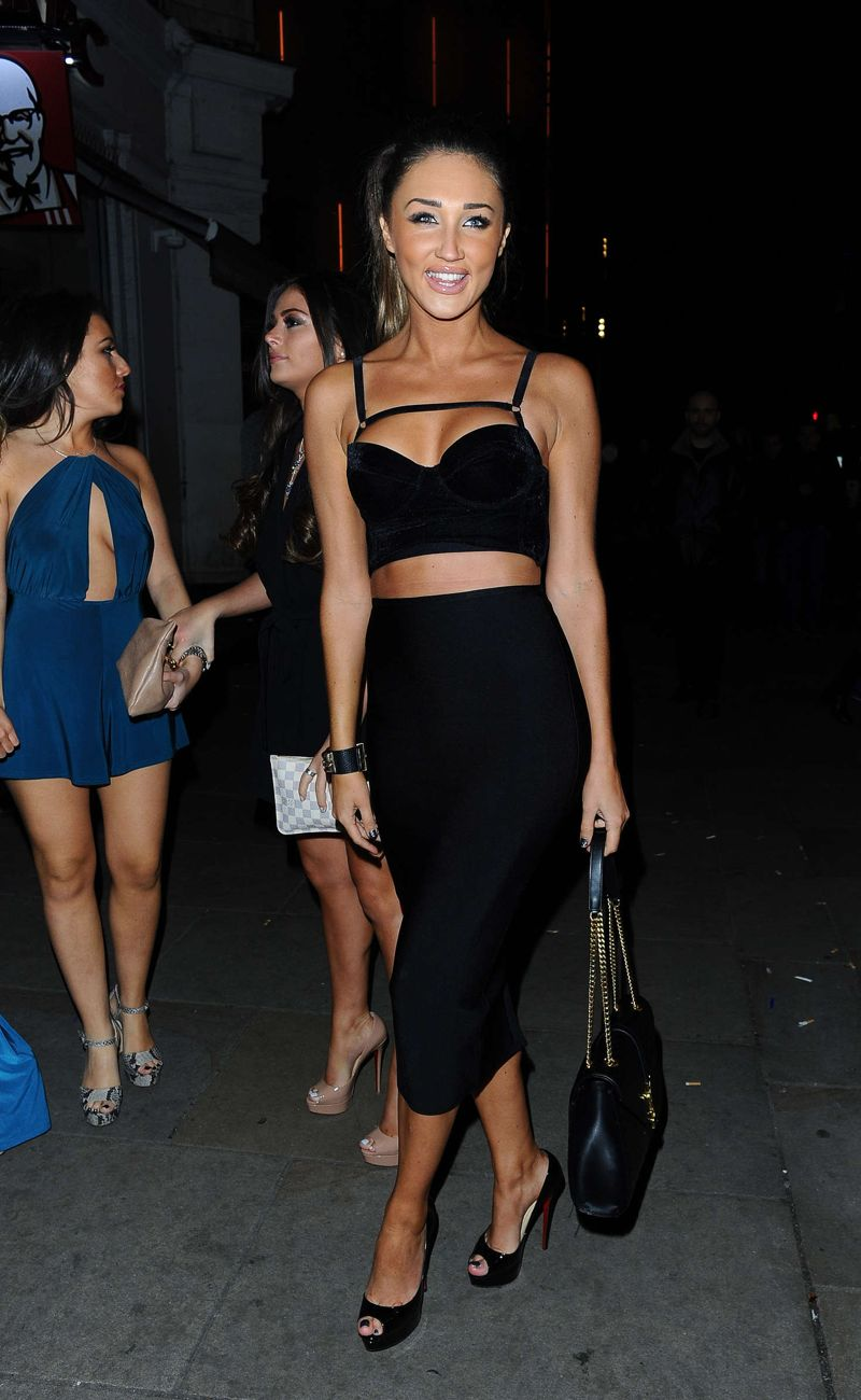 Megan McKenna Arriving at Cafe De Paris