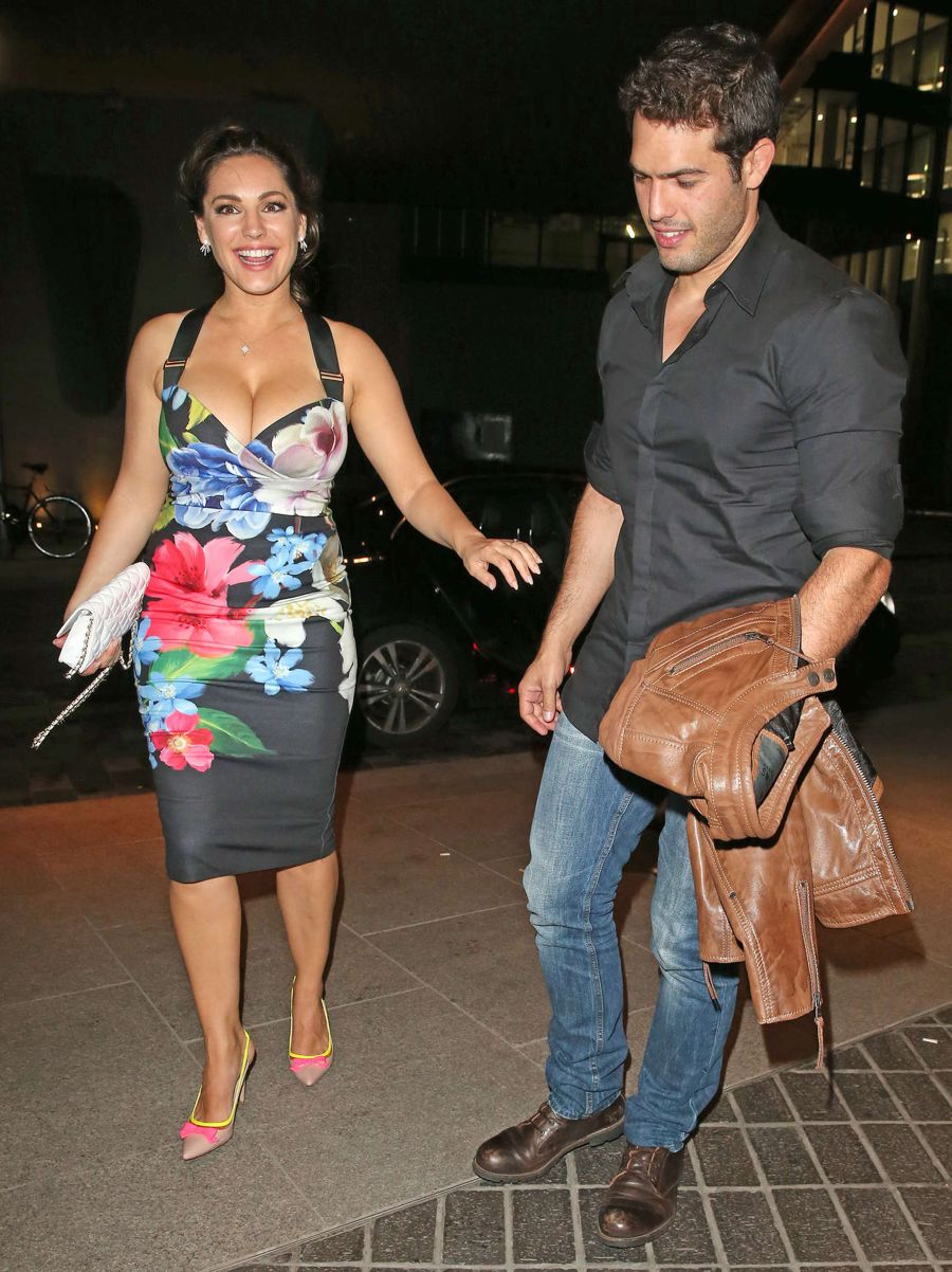 Kelly Brook in Floral Dress at Steam & Rye Night Club