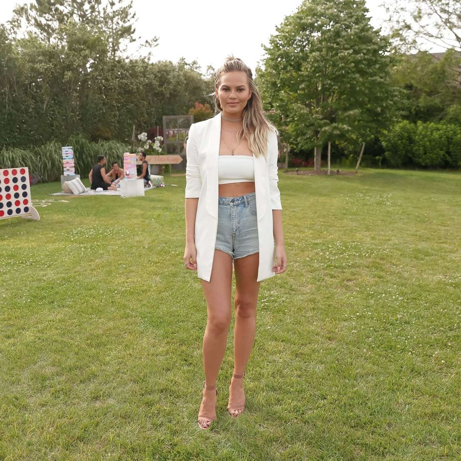 Chrissy Teigen - 4th of July Pool Party in New York