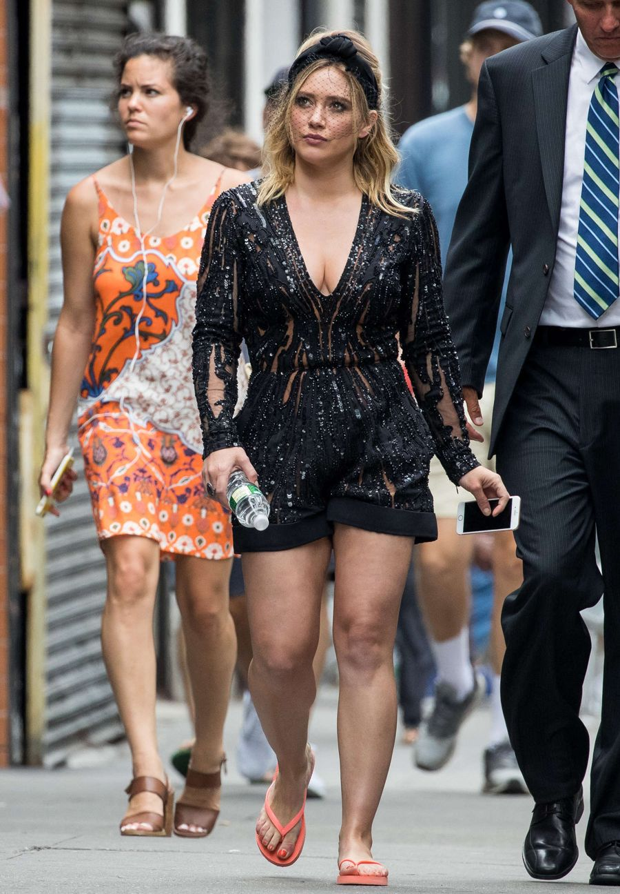 Hilary Duff - On the Set of 'Younger' in Brooklyn