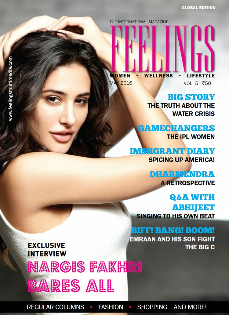 Nargis Fakhri - Feelings Magazine July 2016