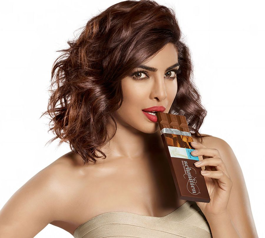 Priyanka Chopra in Chocolate Dress for Schmitten