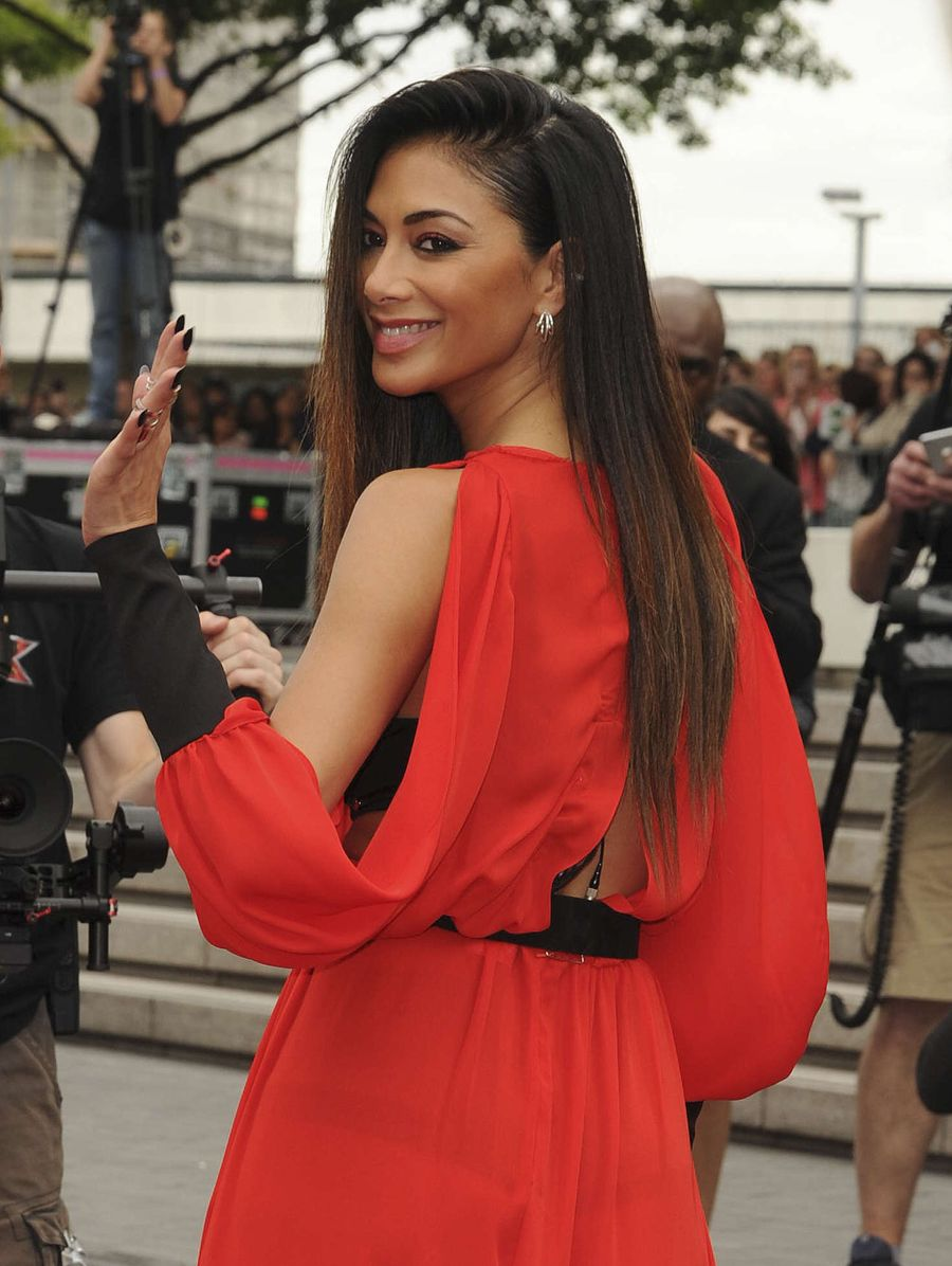 Nicole Scherzinger in Red Dress at Wembley Arena in London