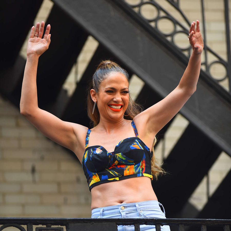 Jennifer Lopez takes on a Music Video in Broadway