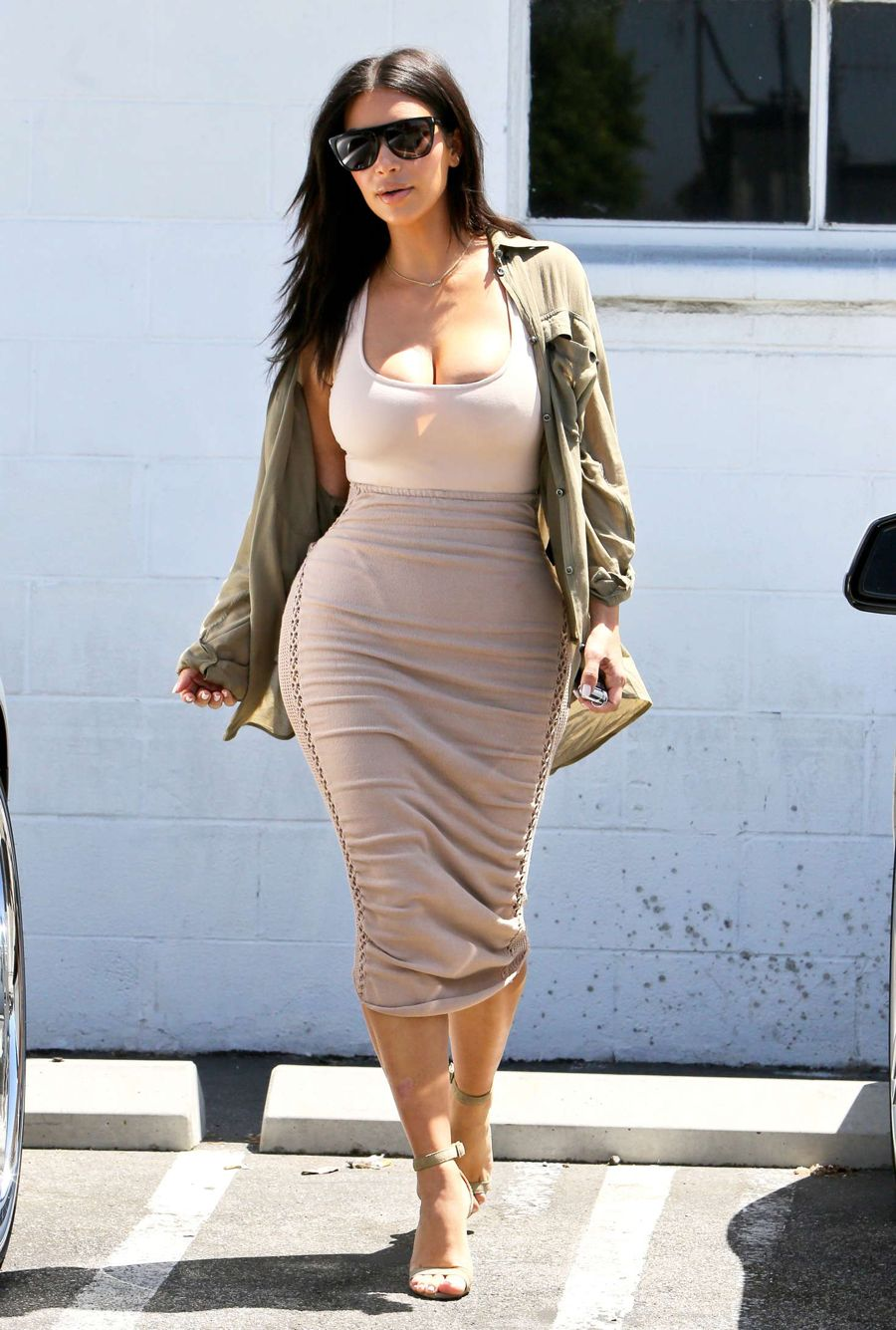 Kim Kardashian at a Studio in Van Nuys