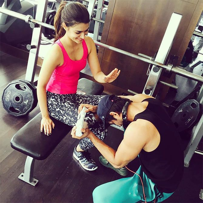 Bollywood's trendy workout wardrobe