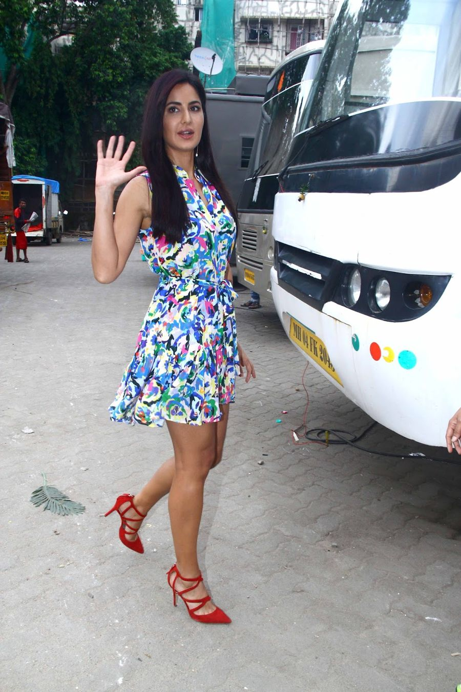 Katrina Kaif Spotted at Studio in Floral skirt