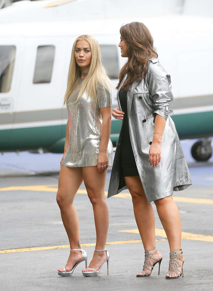 Rita Ora - Filming America's Next Top Model
