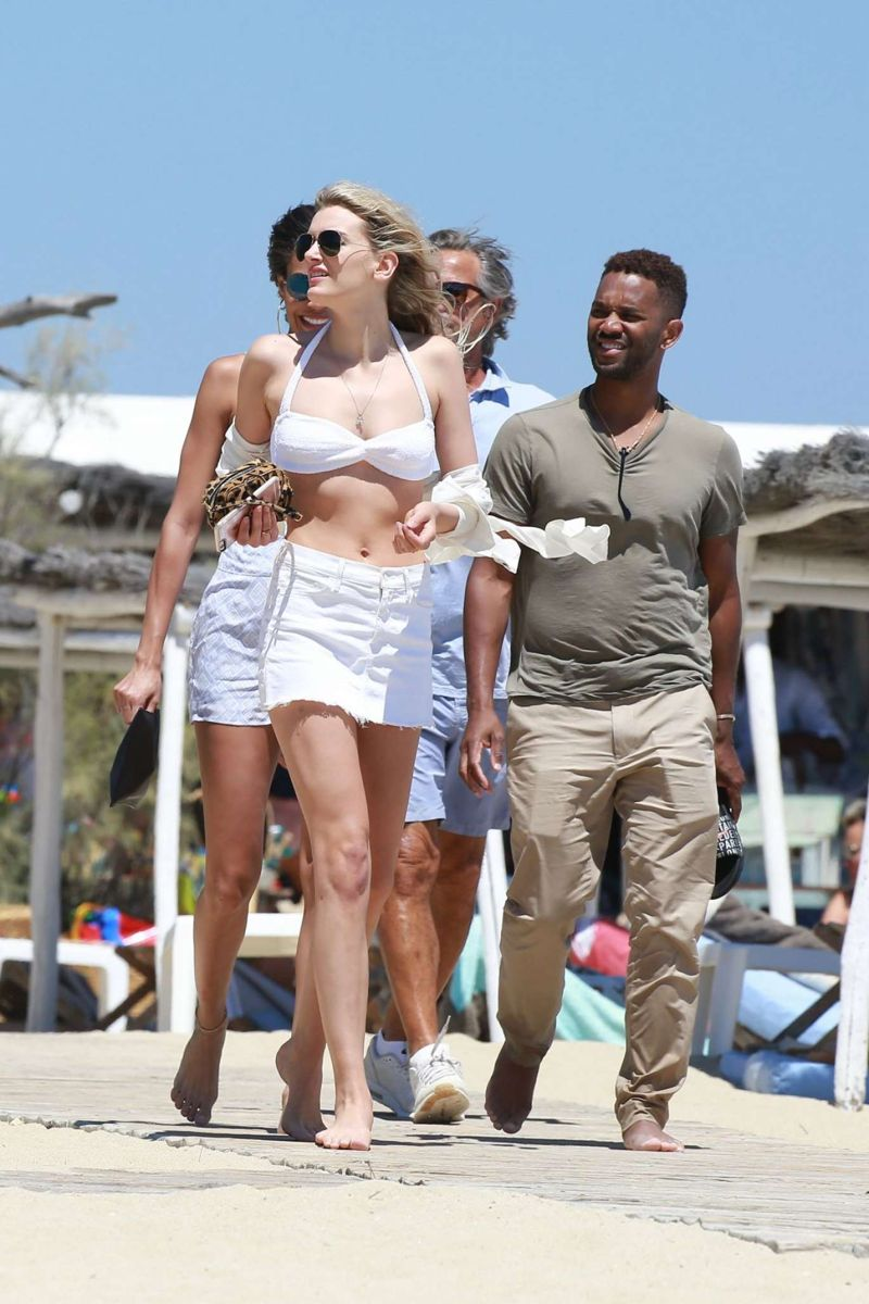 Lily Donaldson in Bikinit Top in St Tropez