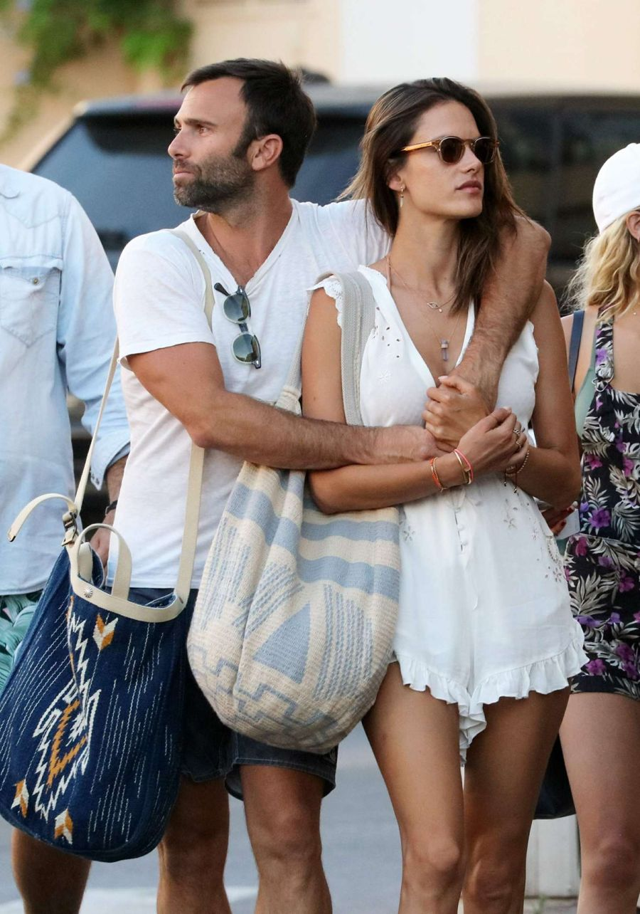 Alessandra Ambrosio in White out in St Tropez