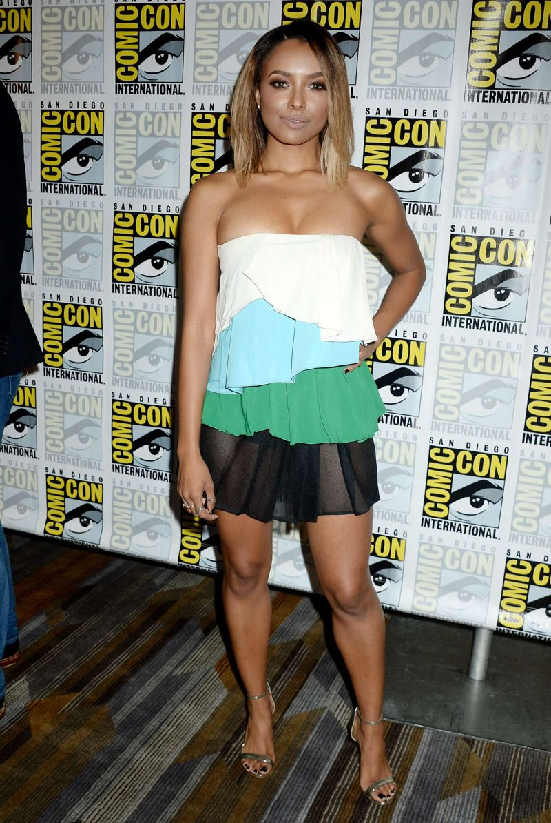 Kat Graham The Vampire Diaries Press Line at Comic-Con