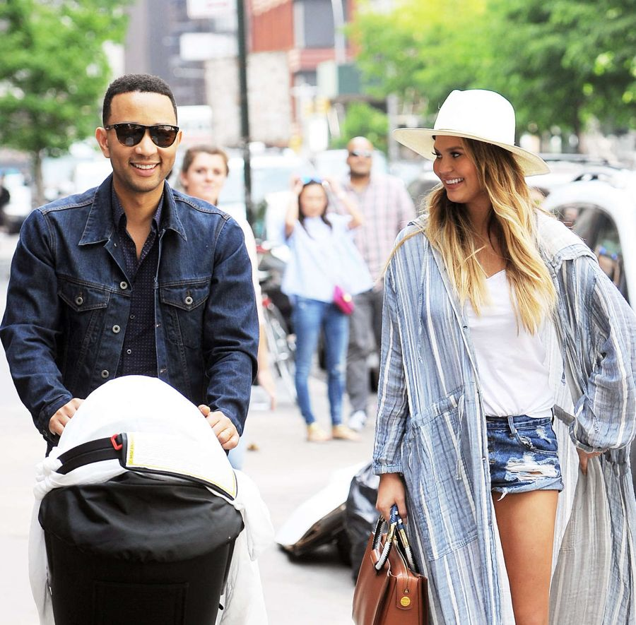 Chrissy Teigen Shows Off Post Pregnancy Curves