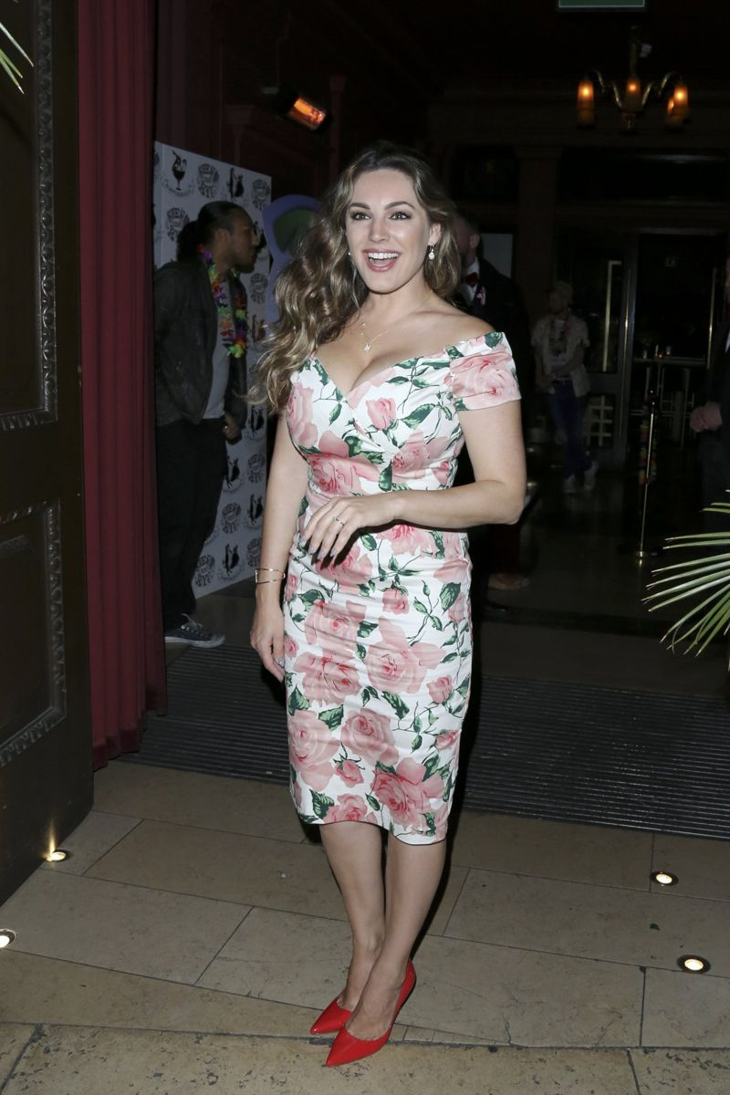 Kelly Brook Steam and Rye Tropical Party in London