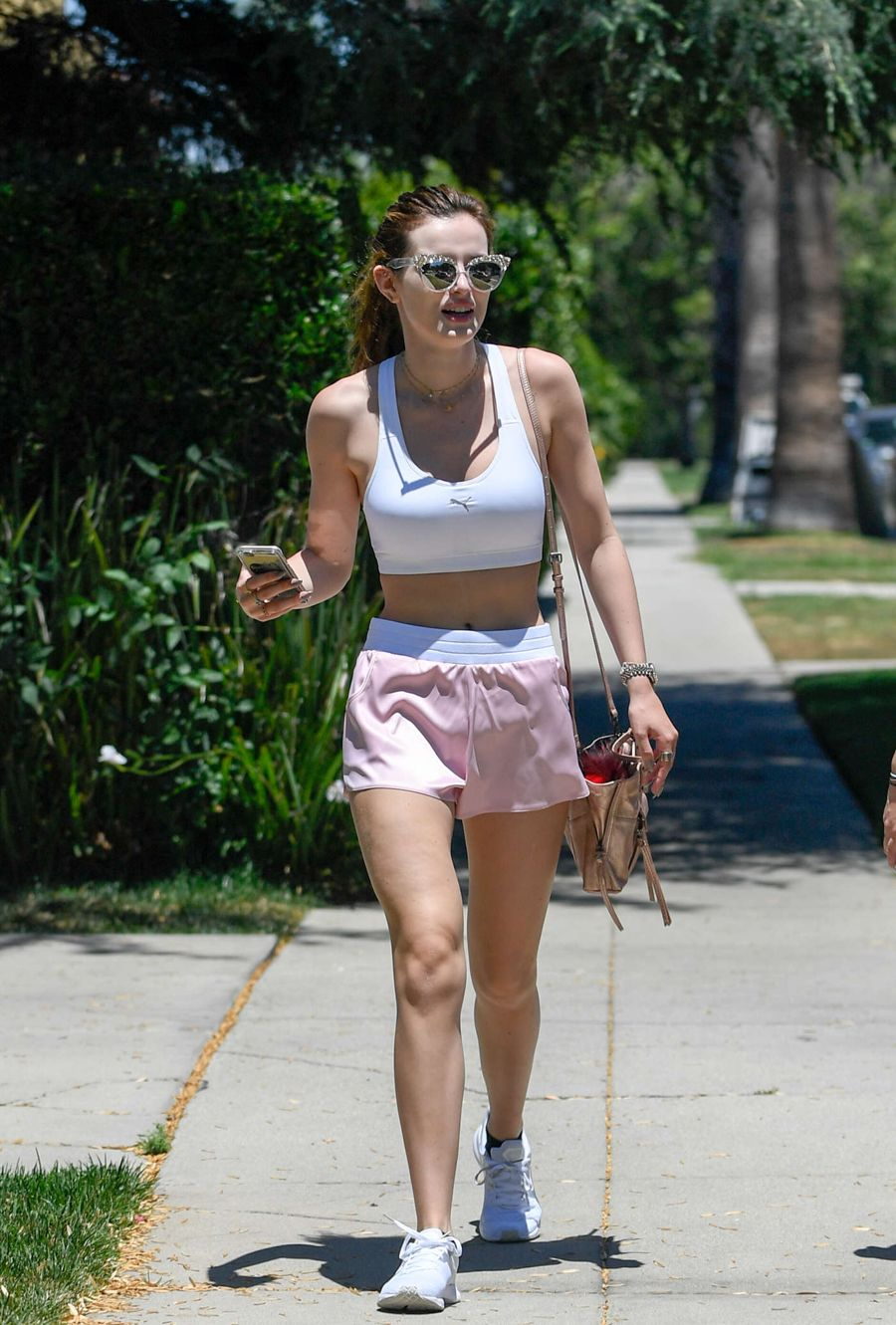 Bella Thorne in Shorts Out in Sherman Oaks