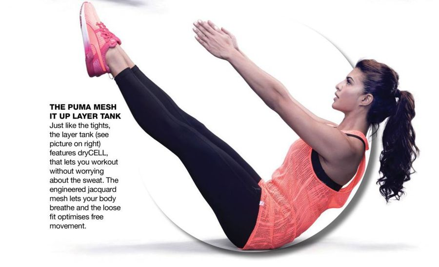 Jacqueline Fernandez Photoshoot for PUMA Fitness