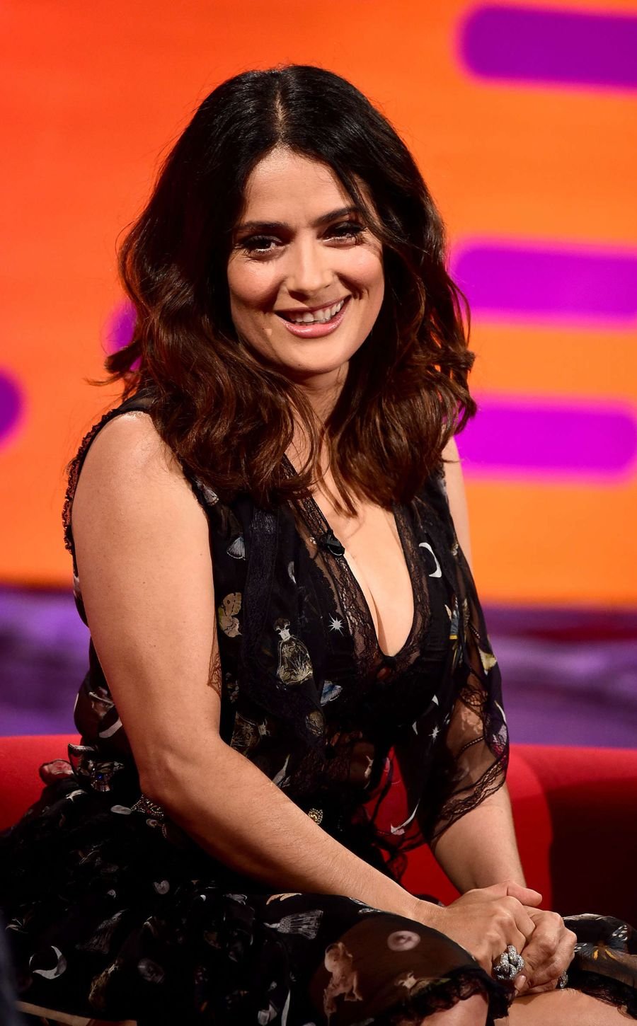 Salma Hayek on 'The Graham Norton Show' in London