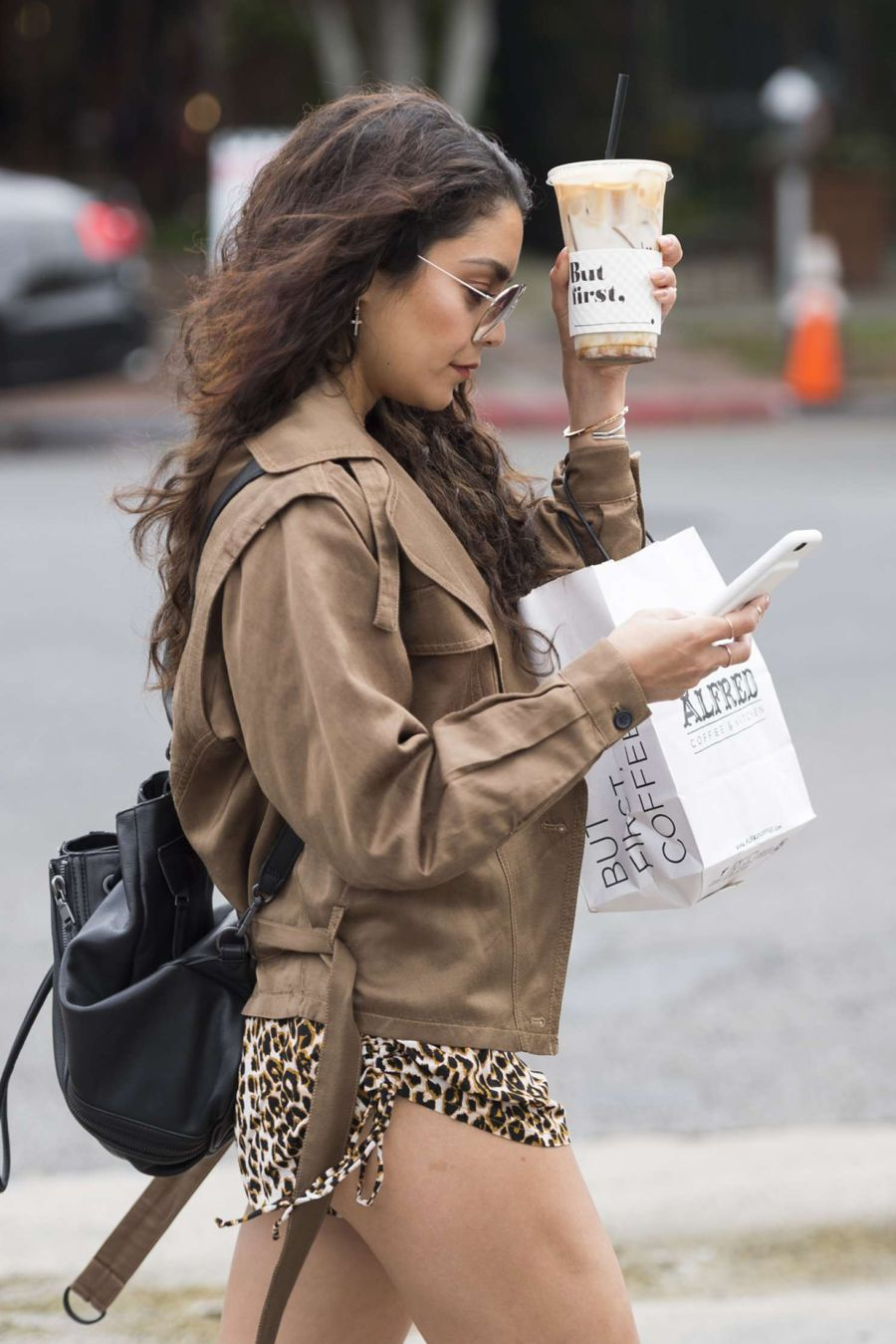 Vanessa Hudgens - Hot on street while getting coffee