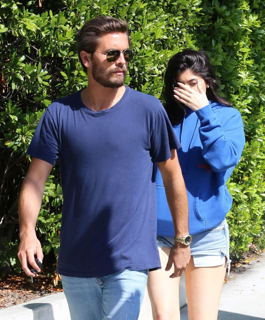 Kylie Jenner and Scott Disick - Out and about in Calabasas