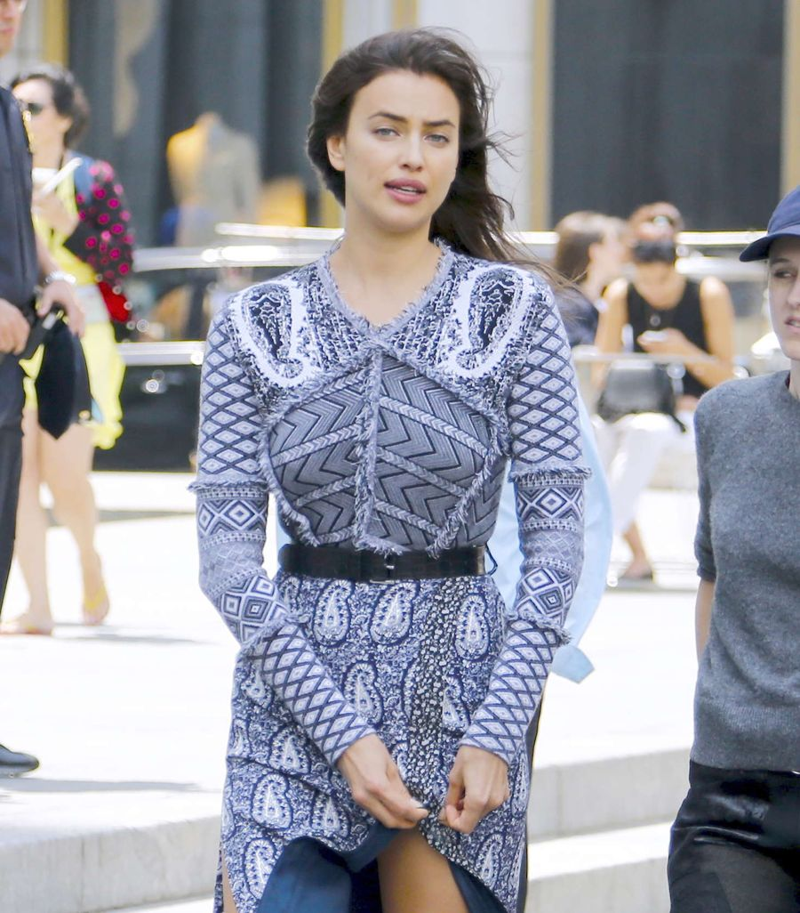 Irina Shayk - Photoshoot on Fifth Avenue in New York