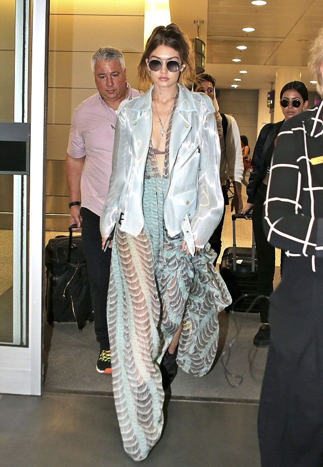 Gigi Hadid in Long Dress out in New York