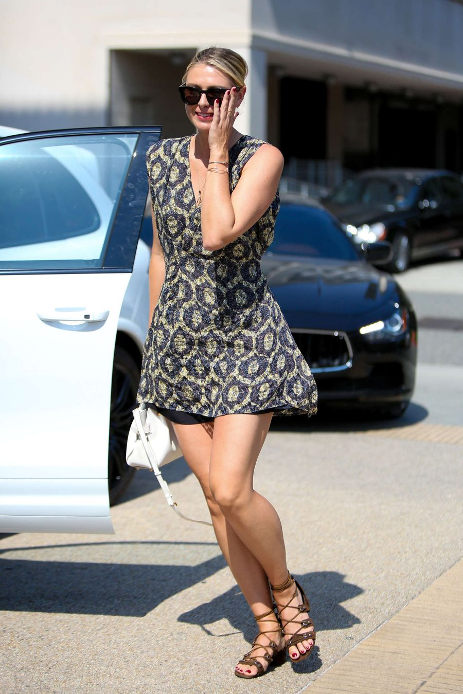 Maria Sharapova Dons a Short Sun Dress
