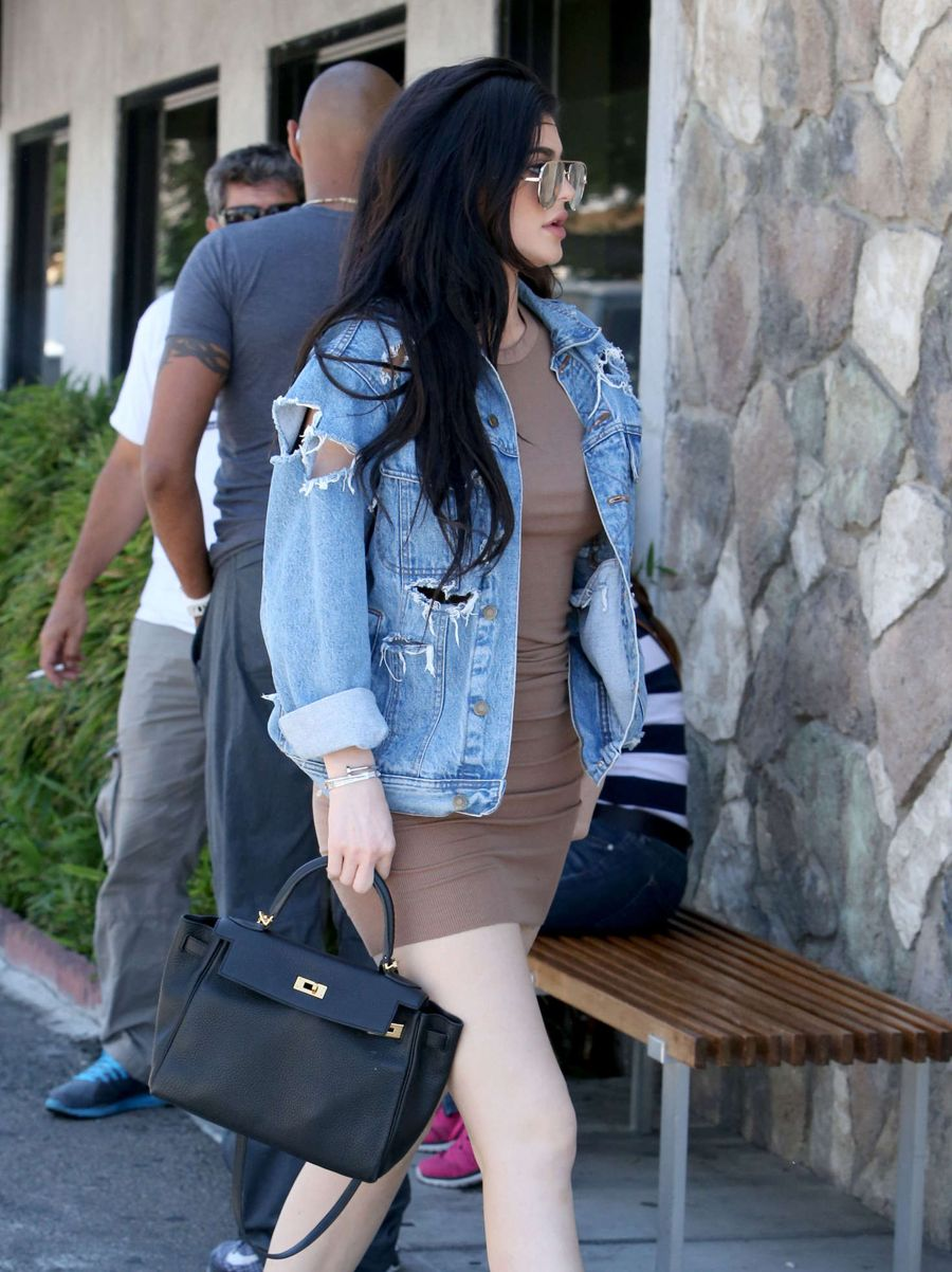 Kylie Jenner in Tight Mini Dress out in Woodland Hills