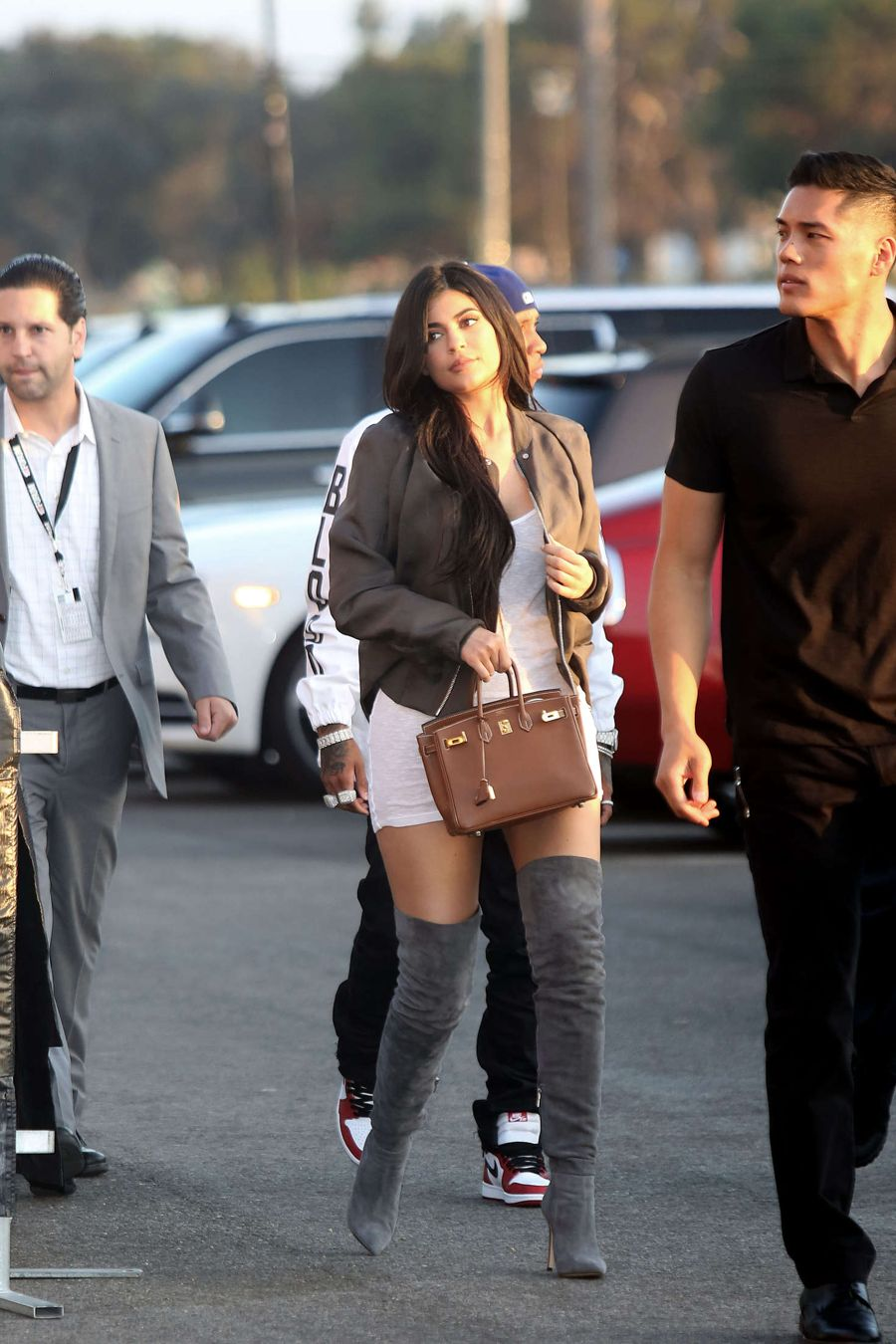Kylie Jenner - Arrives at Kanye West Concert in Los Angeles