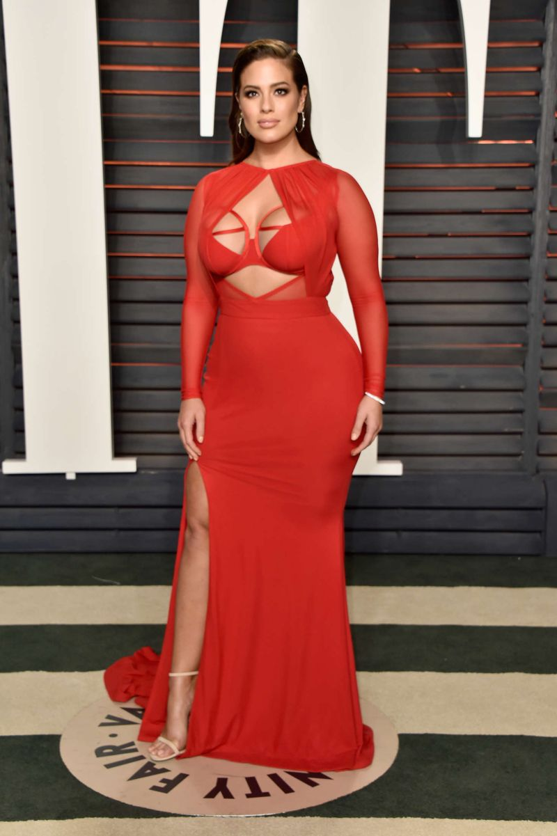 Ashley Graham 2016 Vanity Fair Oscar Party