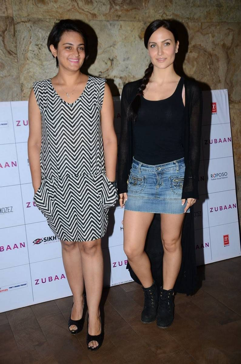 Elli Avram Rocks Denim Shorts in Black Cover-up
