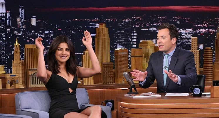 Priyanka Chopra In Black at Tonight Show With Jimmy Fallon
